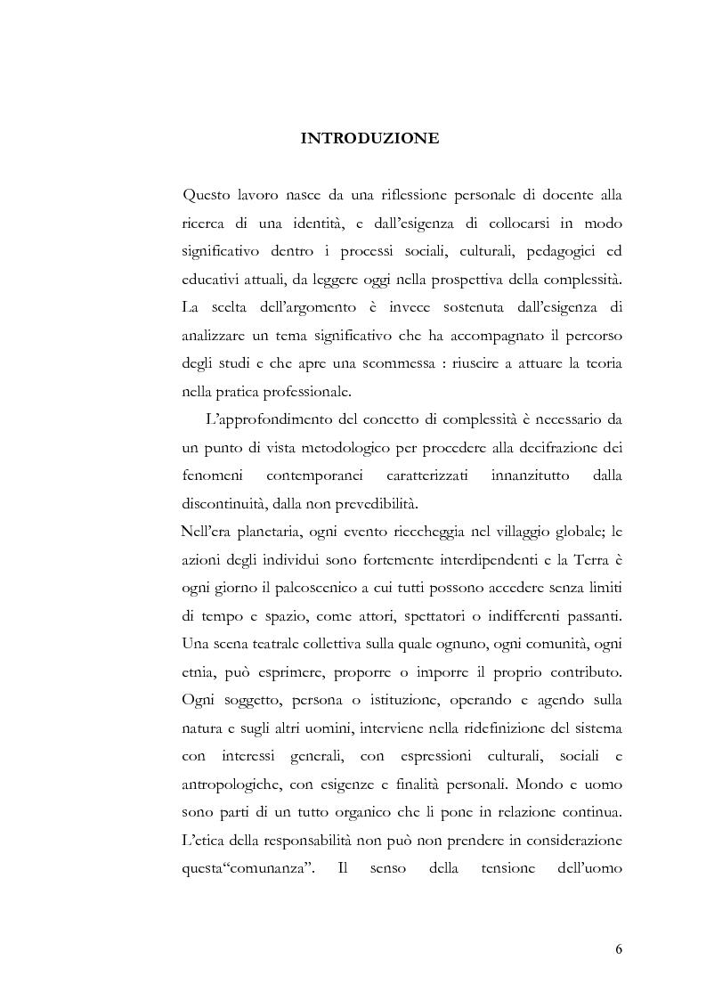 Anteprima della tesi: Individuo e comunità tra soggettività e complessità - Pedagogia sistemica e nuove frontiere delle politiche scolastiche europee, Pagina 1