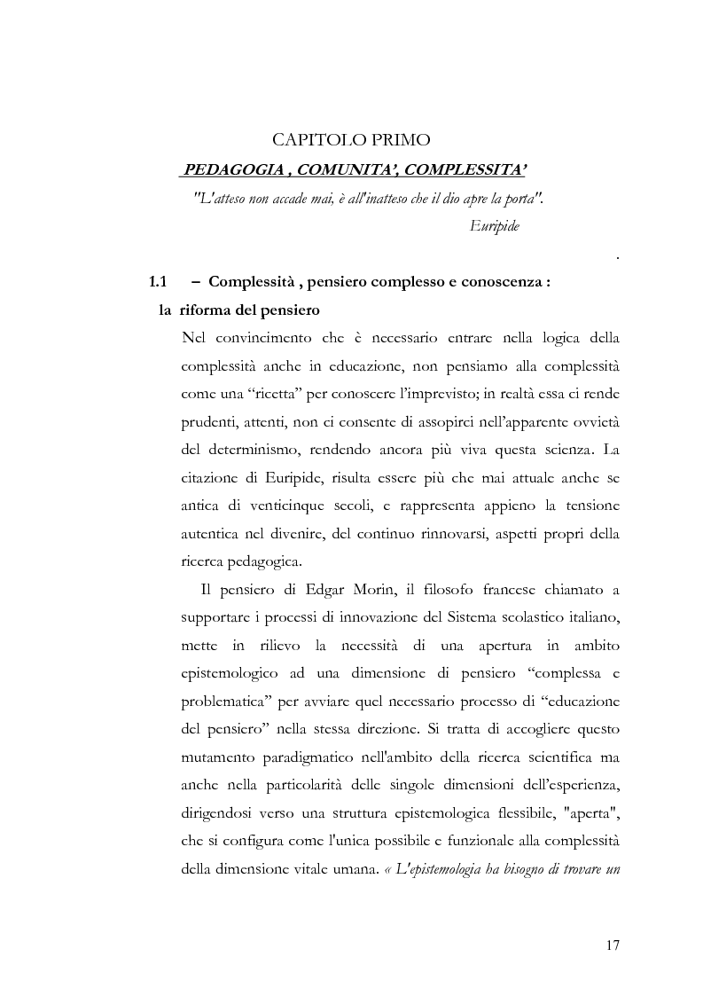 Anteprima della tesi: Individuo e comunità tra soggettività e complessità - Pedagogia sistemica e nuove frontiere delle politiche scolastiche europee, Pagina 12