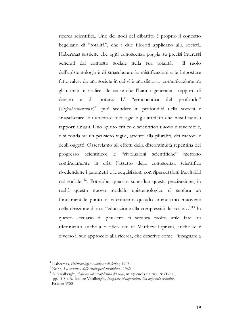 Anteprima della tesi: Individuo e comunità tra soggettività e complessità - Pedagogia sistemica e nuove frontiere delle politiche scolastiche europee, Pagina 14