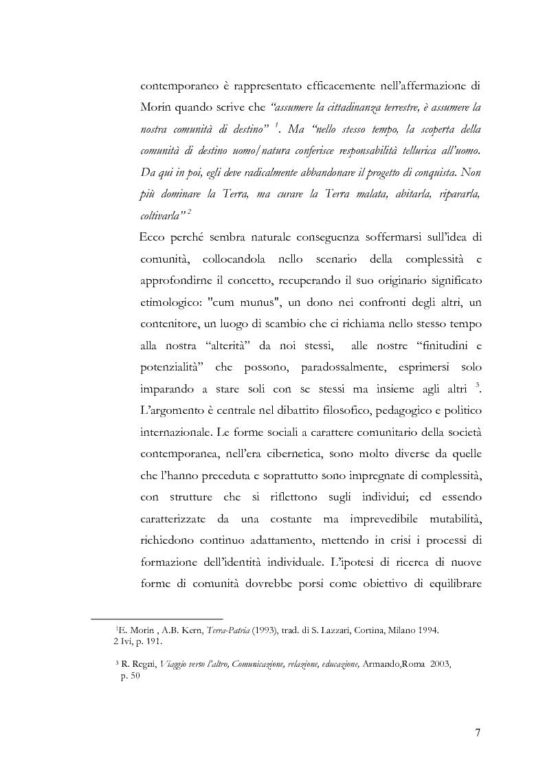 Anteprima della tesi: Individuo e comunità tra soggettività e complessità - Pedagogia sistemica e nuove frontiere delle politiche scolastiche europee, Pagina 2
