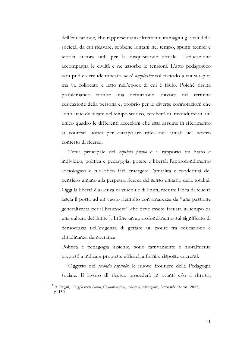 Anteprima della tesi: Individuo e comunità tra soggettività e complessità - Pedagogia sistemica e nuove frontiere delle politiche scolastiche europee, Pagina 6