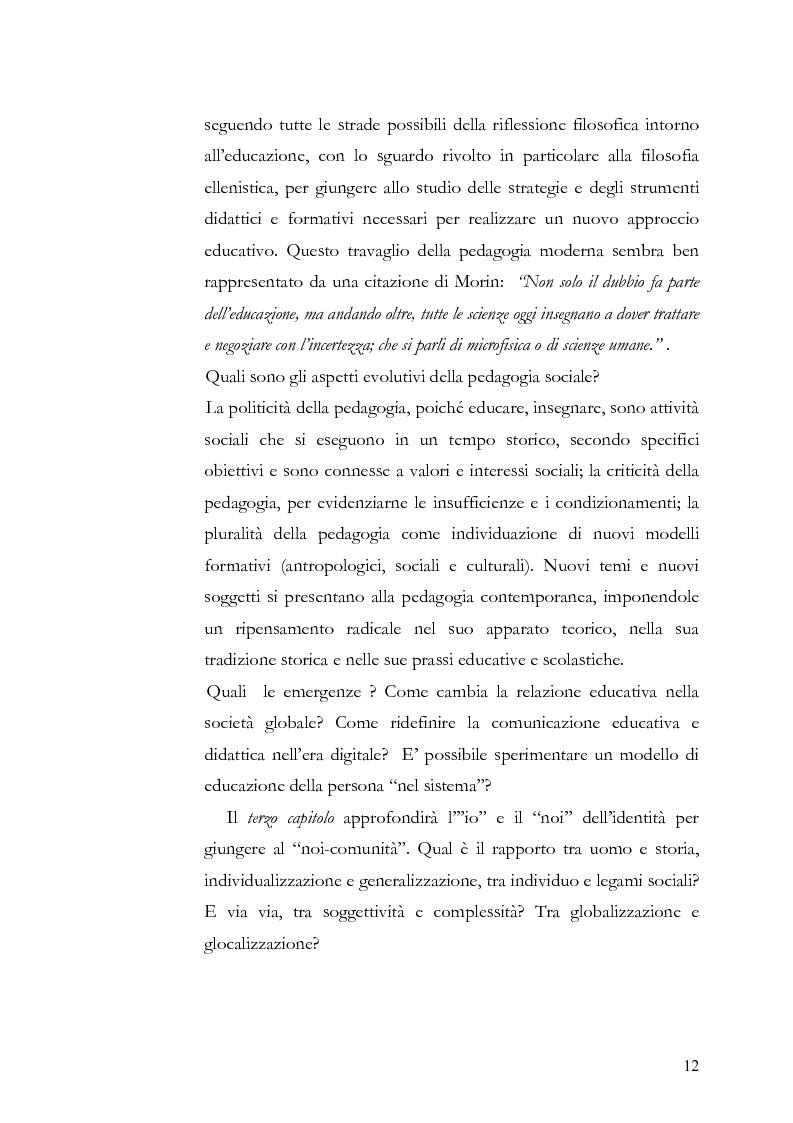 Anteprima della tesi: Individuo e comunità tra soggettività e complessità - Pedagogia sistemica e nuove frontiere delle politiche scolastiche europee, Pagina 7