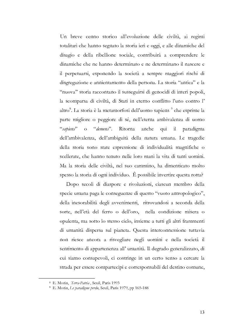 Anteprima della tesi: Individuo e comunità tra soggettività e complessità - Pedagogia sistemica e nuove frontiere delle politiche scolastiche europee, Pagina 8