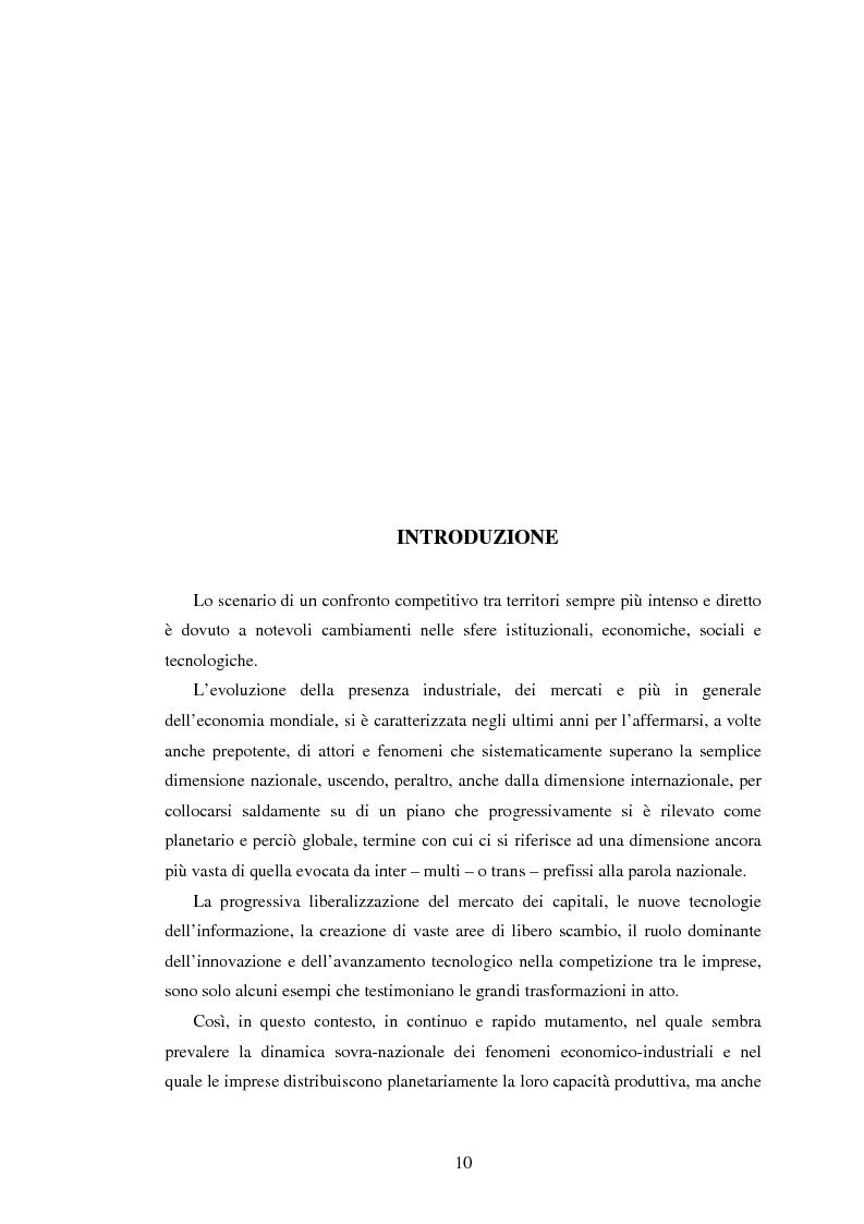 Anteprima della tesi: Marketing territoriale e sviluppo locale: la competitività della provincia dell'Aquila, Pagina 1