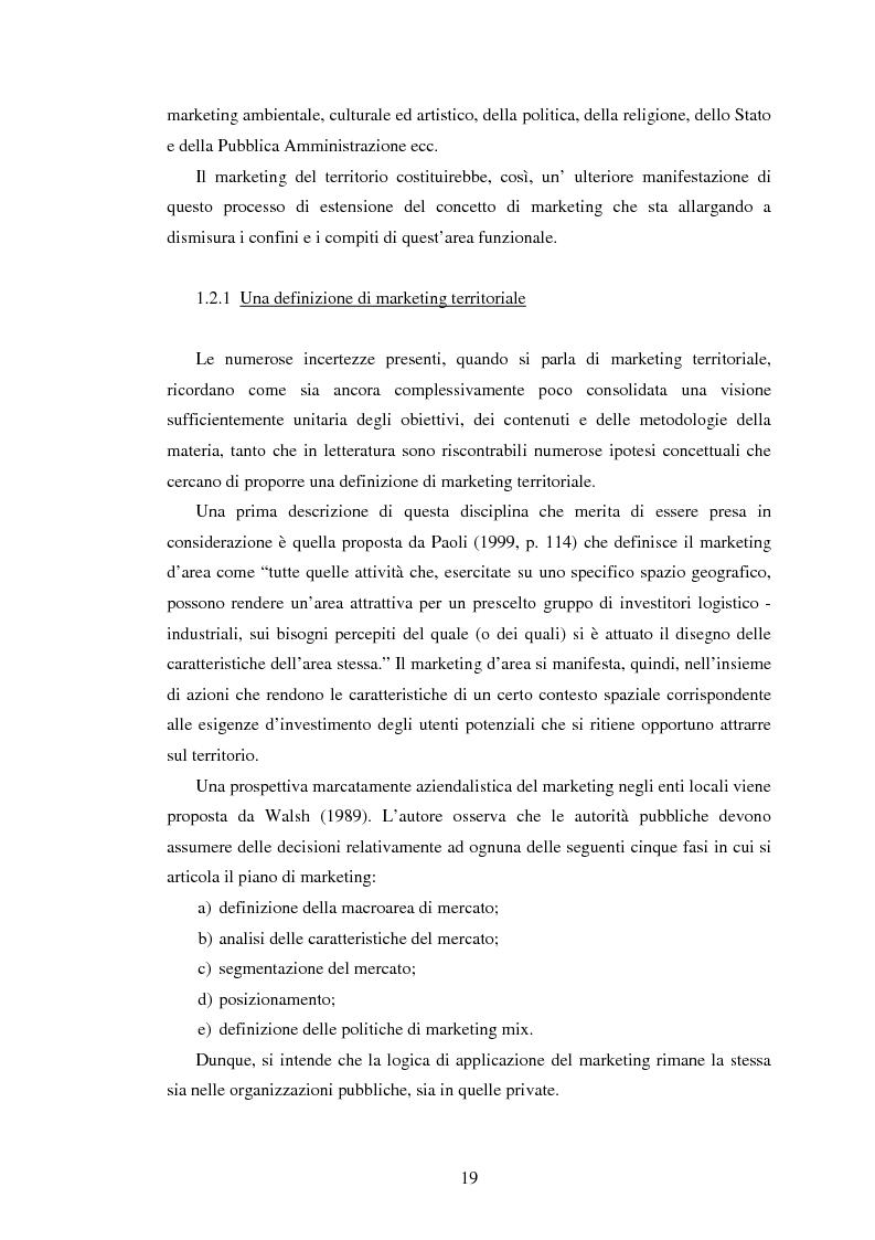 Anteprima della tesi: Marketing territoriale e sviluppo locale: la competitività della provincia dell'Aquila, Pagina 10