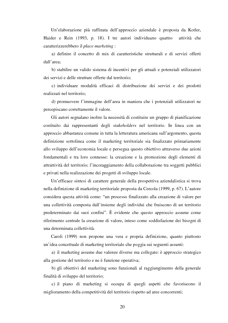 Anteprima della tesi: Marketing territoriale e sviluppo locale: la competitività della provincia dell'Aquila, Pagina 11