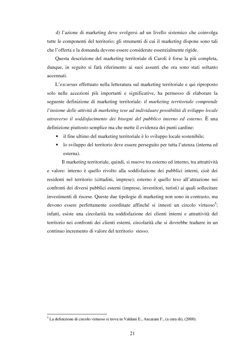Anteprima della tesi: Marketing territoriale e sviluppo locale: la competitività della provincia dell'Aquila, Pagina 12