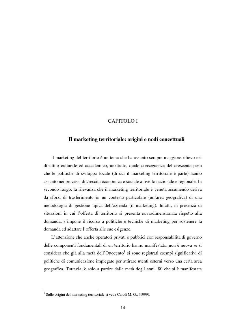 Anteprima della tesi: Marketing territoriale e sviluppo locale: la competitività della provincia dell'Aquila, Pagina 5
