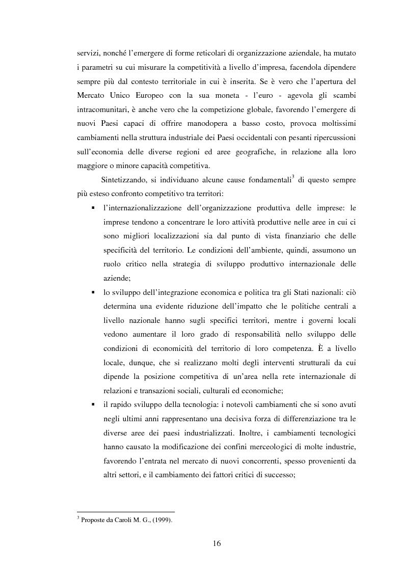 Anteprima della tesi: Marketing territoriale e sviluppo locale: la competitività della provincia dell'Aquila, Pagina 7