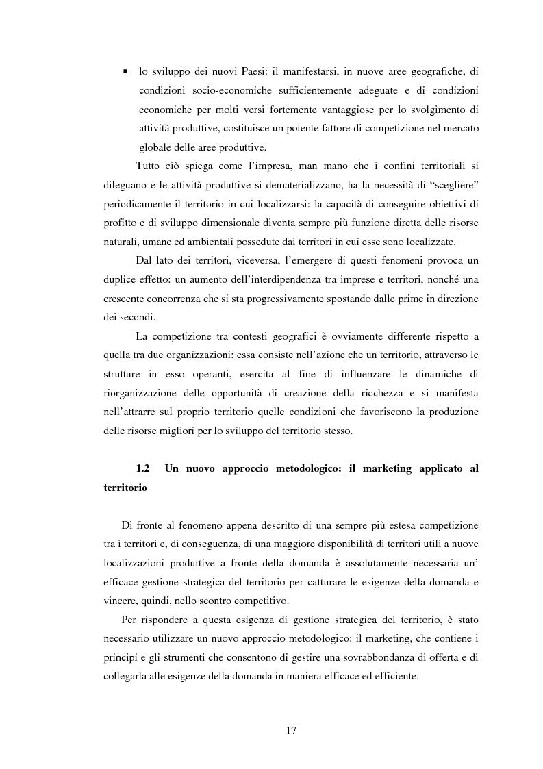 Anteprima della tesi: Marketing territoriale e sviluppo locale: la competitività della provincia dell'Aquila, Pagina 8