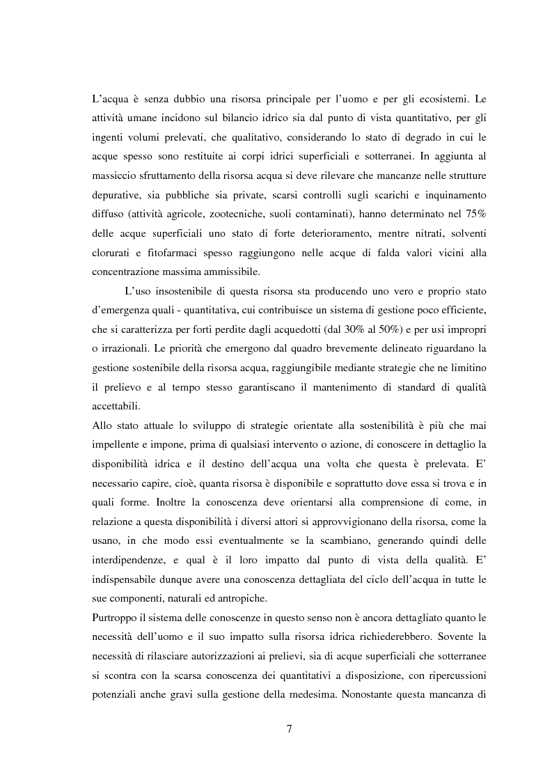 Anteprima della tesi: Bilancio della disponibilità di risorsa idrica nel comune di Albareto (PR), Pagina 2