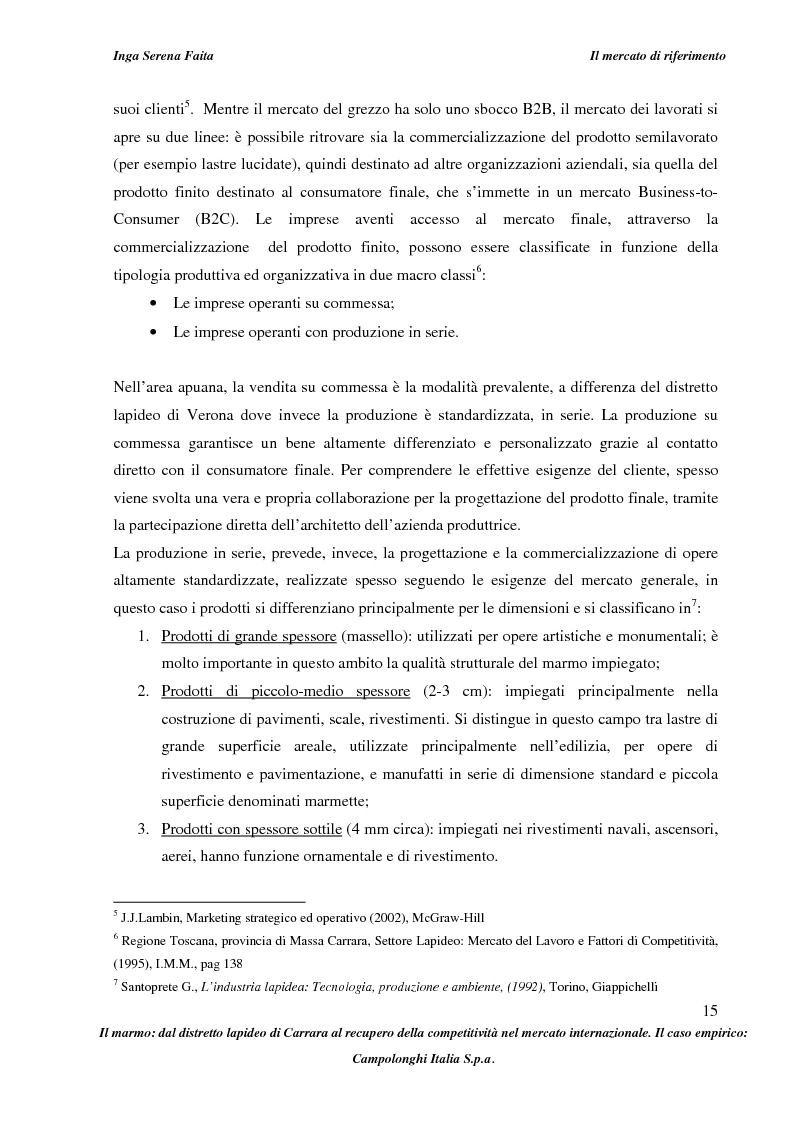 Anteprima della tesi: Il marmo: dal distretto lapideo di Carrara al recupero della competitività nel mercato internazionale. Il caso empirico: Campolonghi Italia S.p.a., Pagina 12