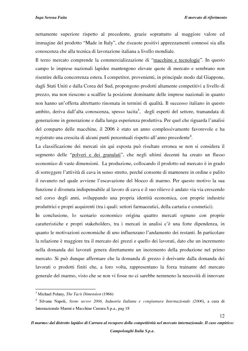 Anteprima della tesi: Il marmo: dal distretto lapideo di Carrara al recupero della competitività nel mercato internazionale. Il caso empirico: Campolonghi Italia S.p.a., Pagina 9