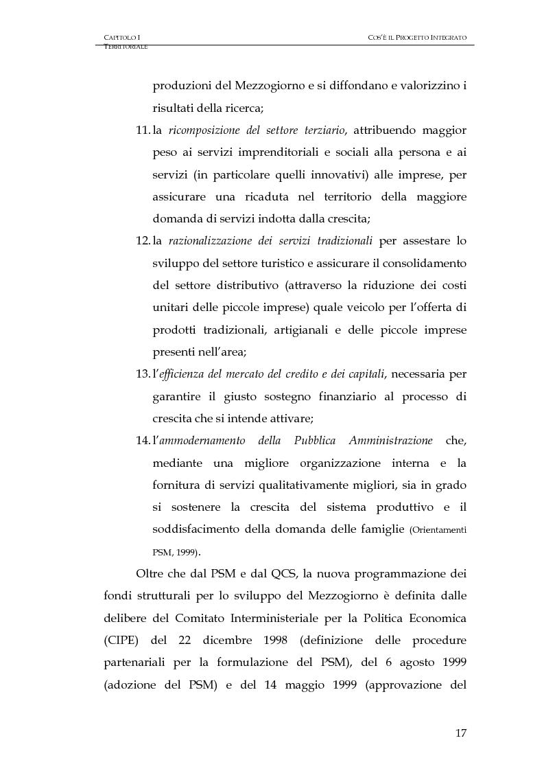 Anteprima della tesi: Progettazione integrata e sviluppo locale: il caso del PIT Locride, Pagina 10