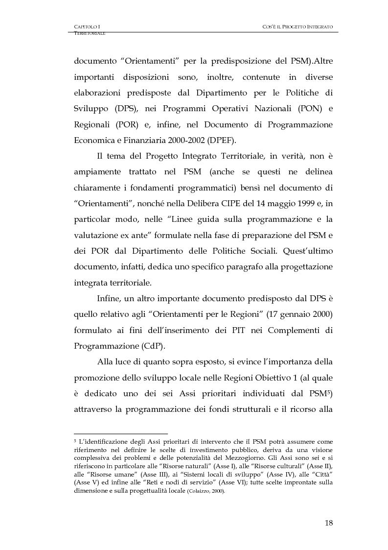Anteprima della tesi: Progettazione integrata e sviluppo locale: il caso del PIT Locride, Pagina 11