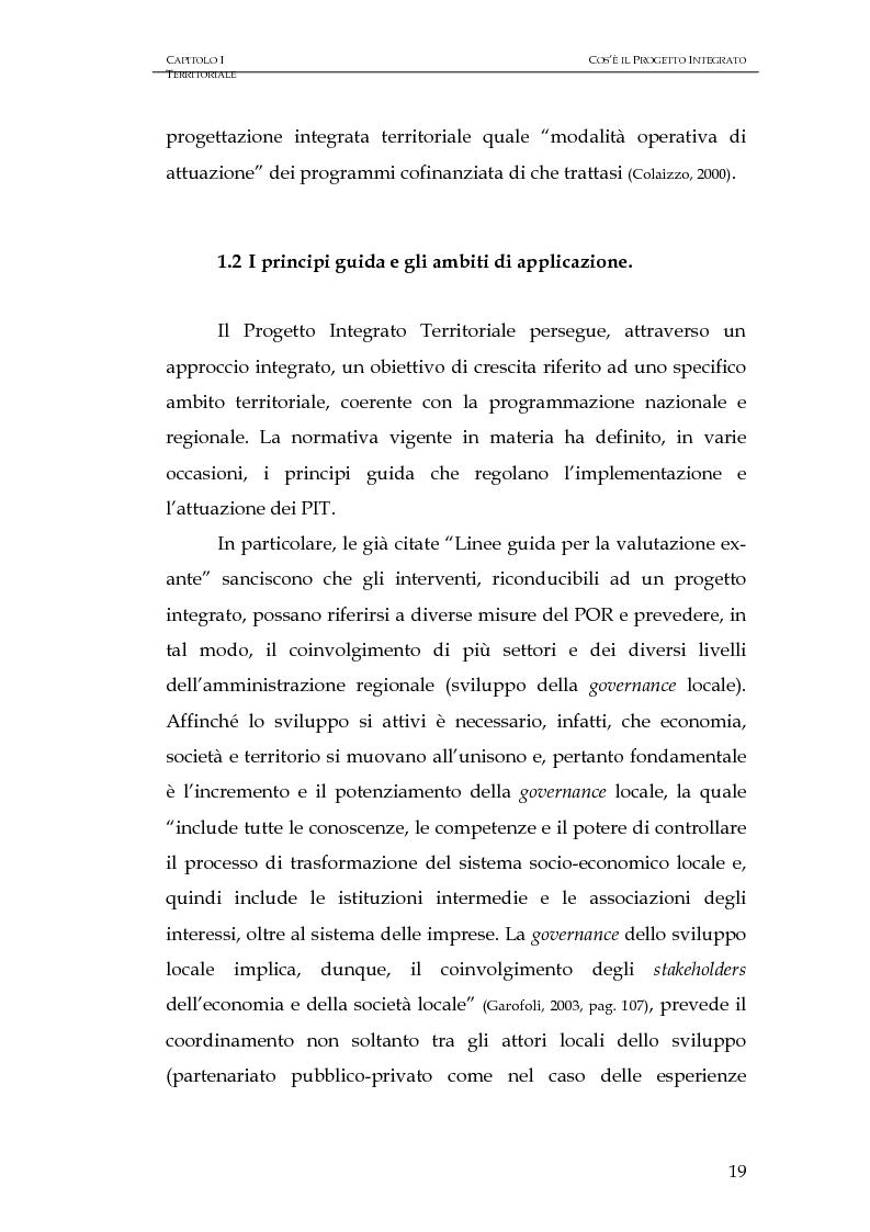 Anteprima della tesi: Progettazione integrata e sviluppo locale: il caso del PIT Locride, Pagina 12