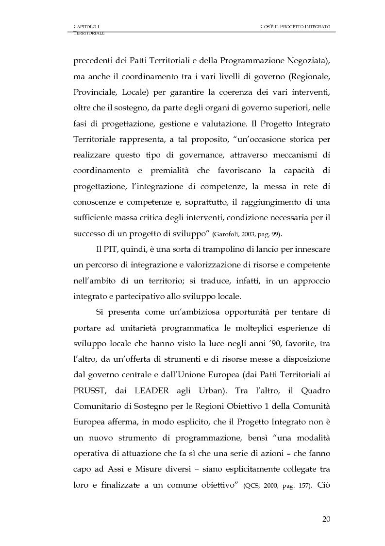 Anteprima della tesi: Progettazione integrata e sviluppo locale: il caso del PIT Locride, Pagina 13