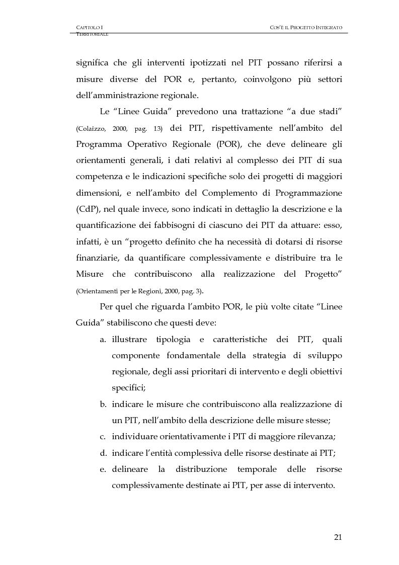 Anteprima della tesi: Progettazione integrata e sviluppo locale: il caso del PIT Locride, Pagina 14