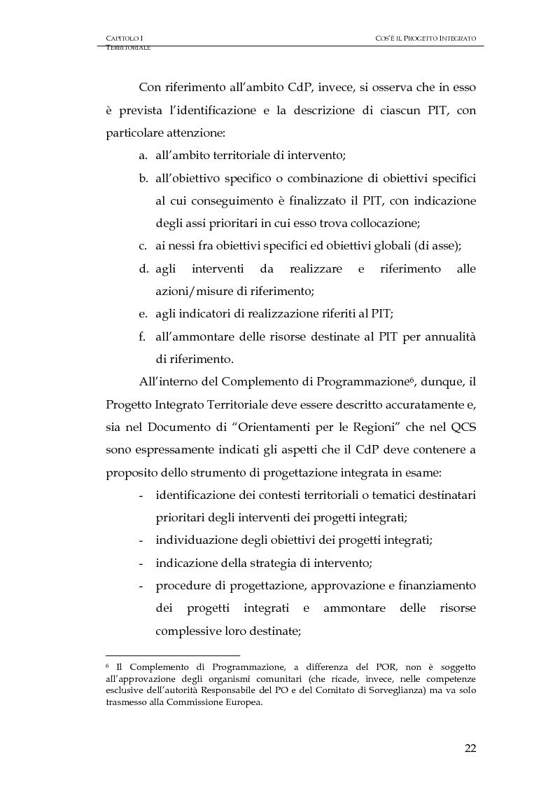 Anteprima della tesi: Progettazione integrata e sviluppo locale: il caso del PIT Locride, Pagina 15