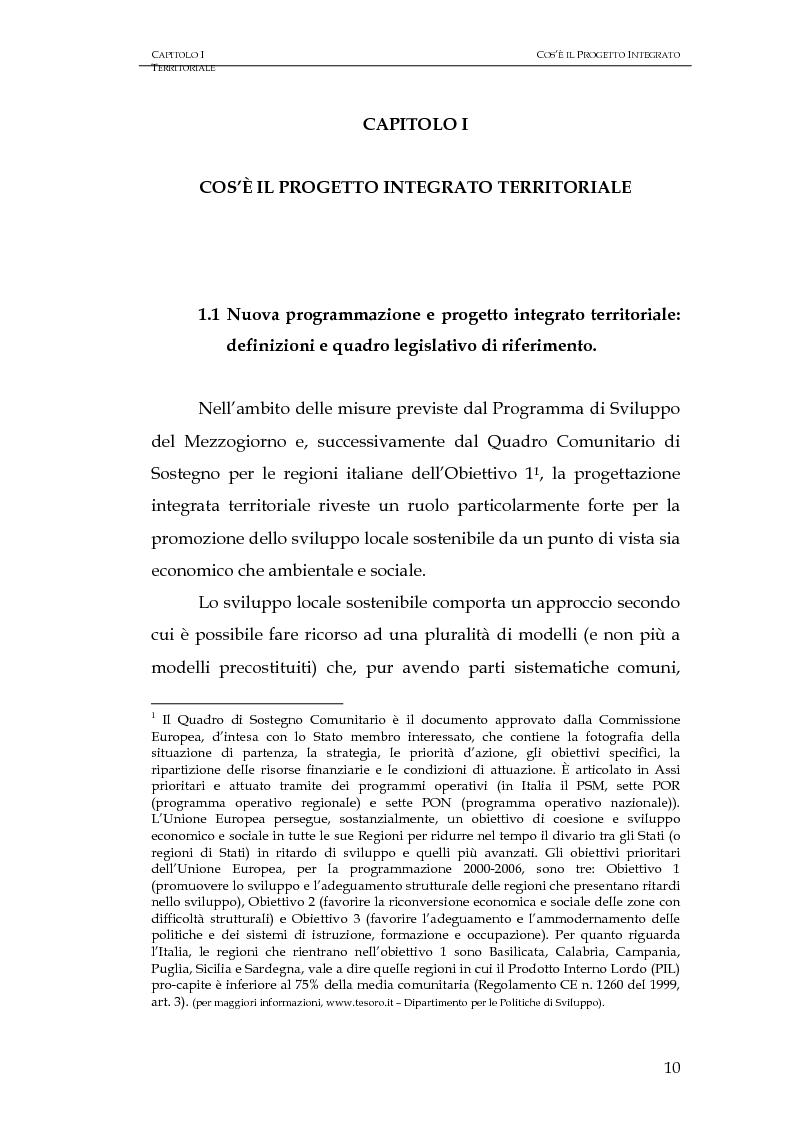 Anteprima della tesi: Progettazione integrata e sviluppo locale: il caso del PIT Locride, Pagina 3