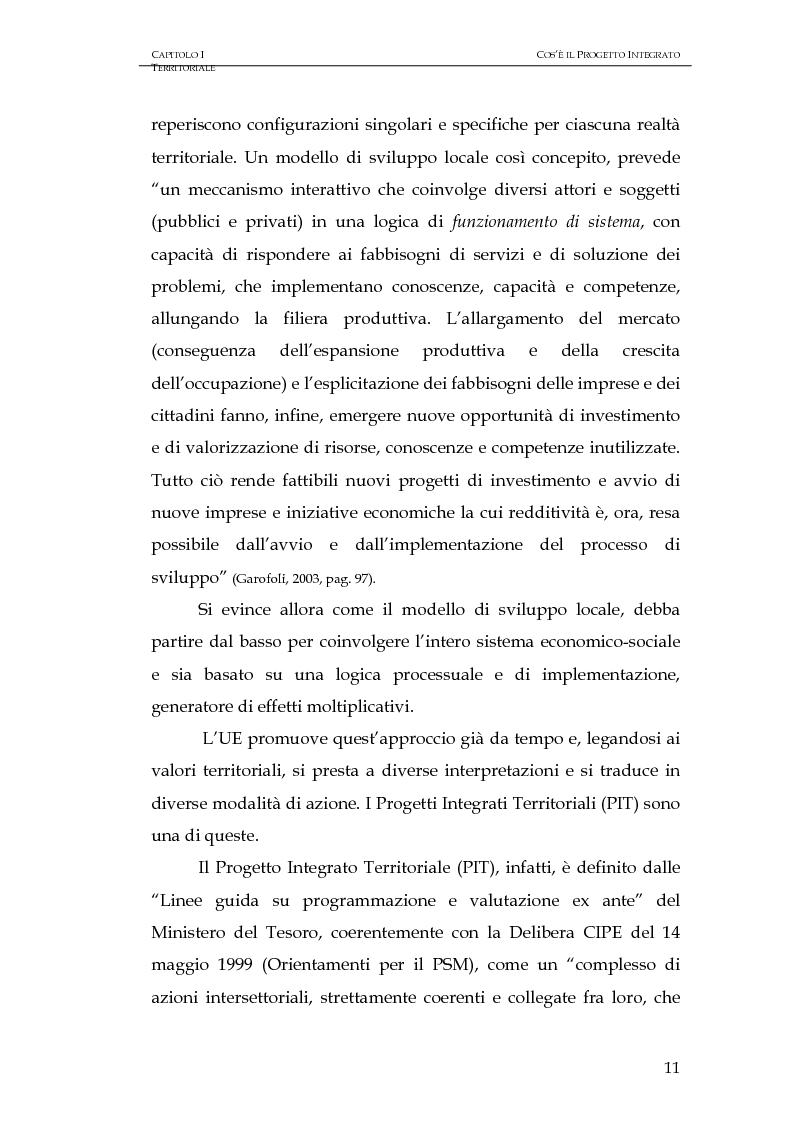 Anteprima della tesi: Progettazione integrata e sviluppo locale: il caso del PIT Locride, Pagina 4