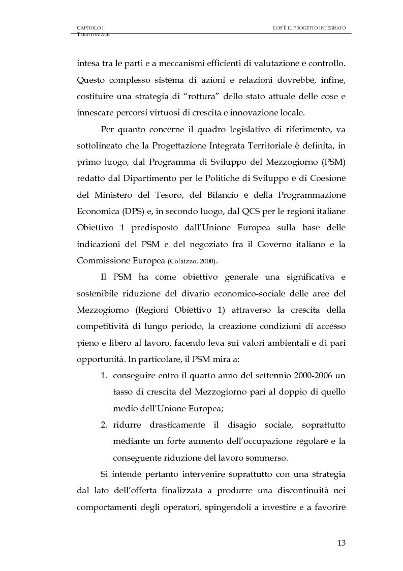 Anteprima della tesi: Progettazione integrata e sviluppo locale: il caso del PIT Locride, Pagina 6