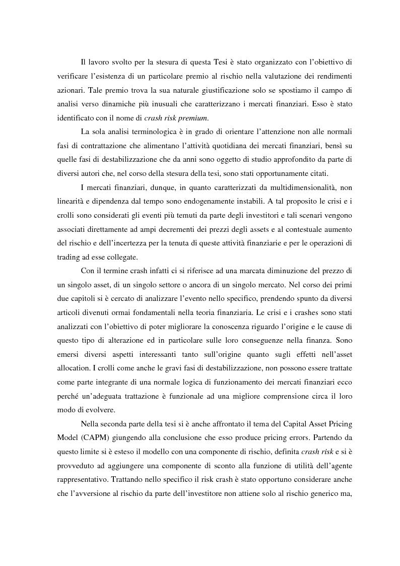 Anteprima della tesi: Allocazione di portafoglio e rischio di crash, Pagina 1