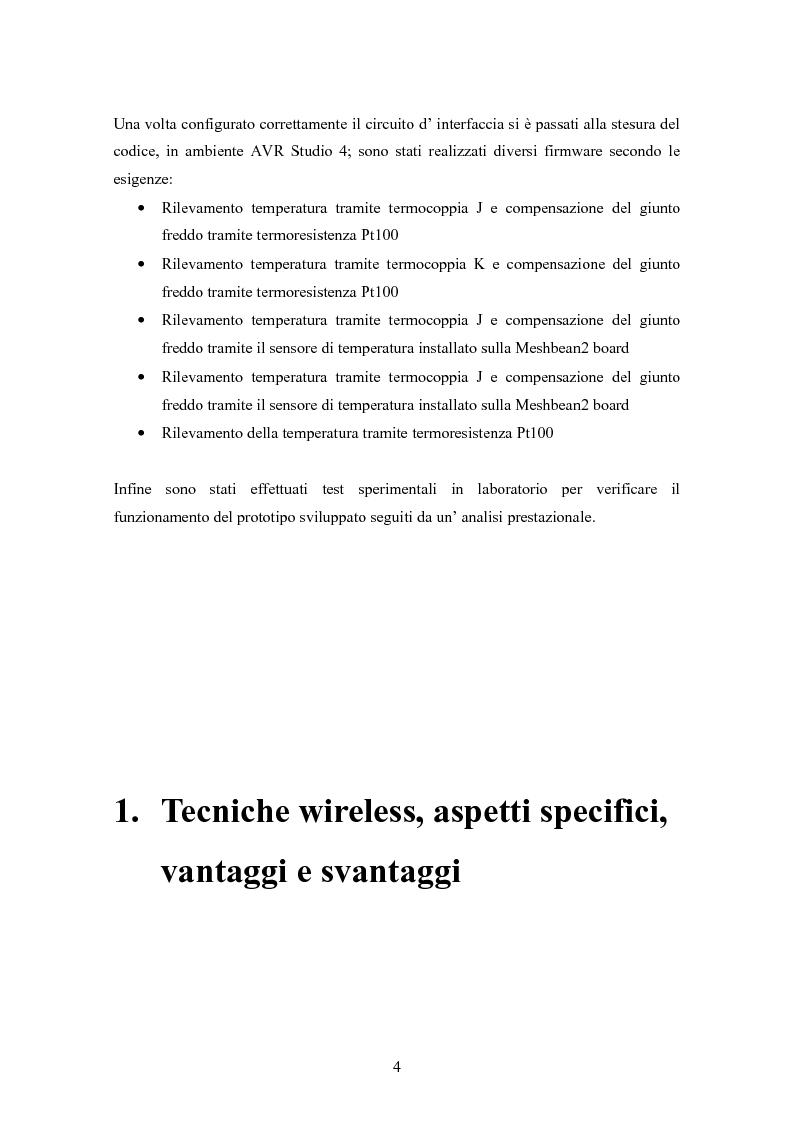 Anteprima della tesi: Interconnessione wireless di sensori per automazione industriale, Pagina 3
