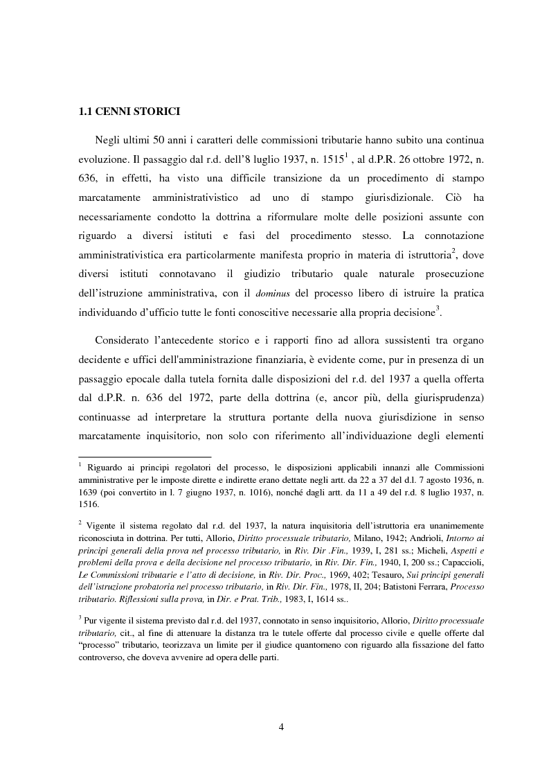 Anteprima della tesi: I poteri istruttori delle commissioni tributarie alla luce della sentenza n. 109 del 29/03/2007 Corte Costituzionale, Pagina 2