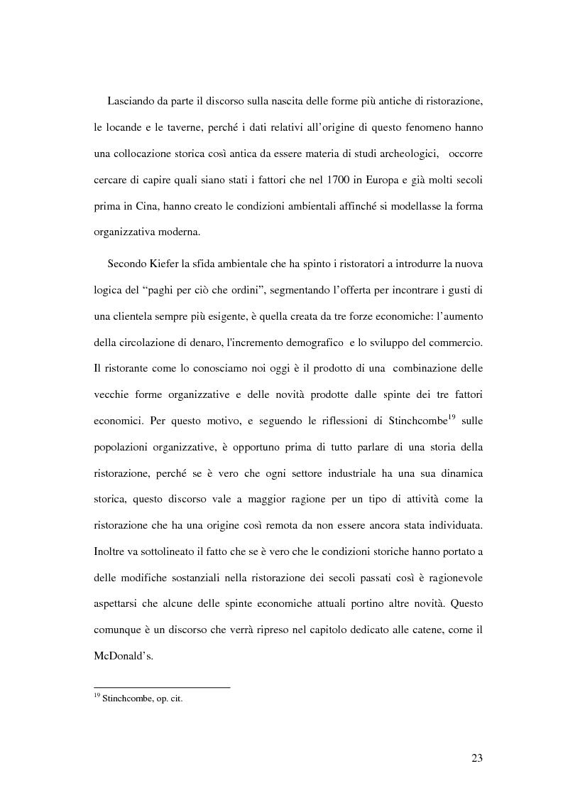 Anteprima della tesi: Il ristorante come sistema organizzativo, Pagina 15