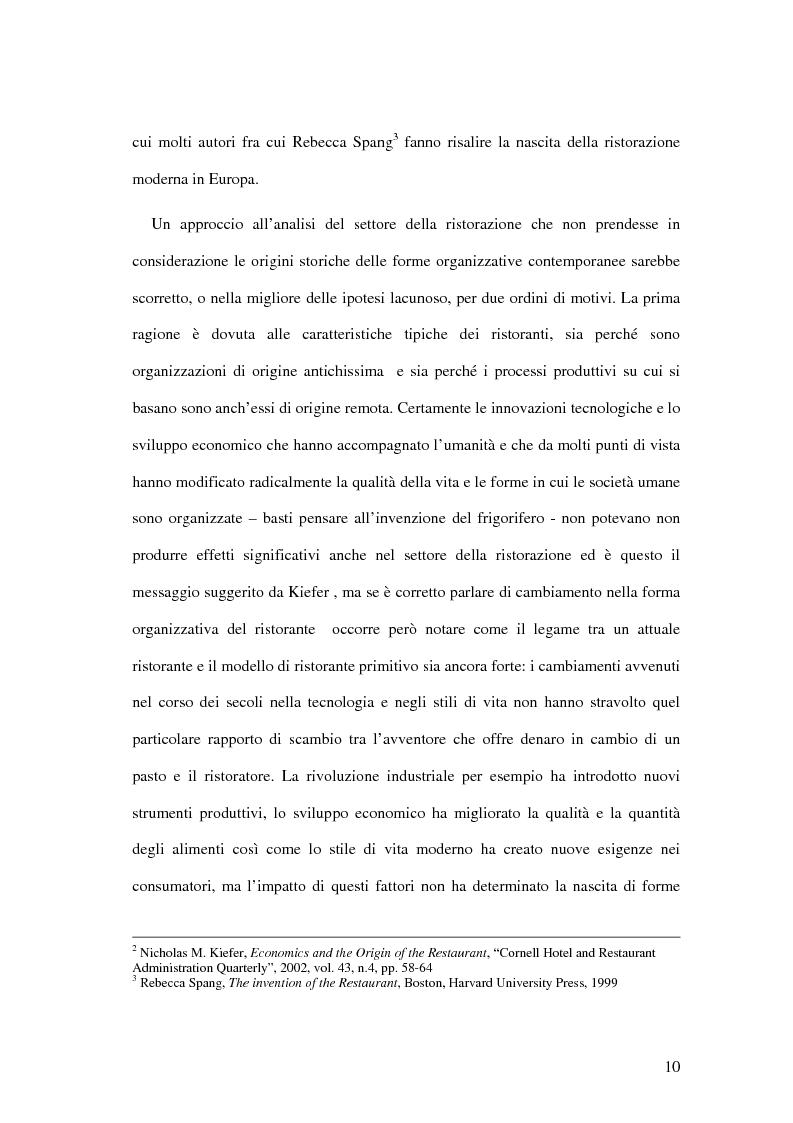 Anteprima della tesi: Il ristorante come sistema organizzativo, Pagina 2