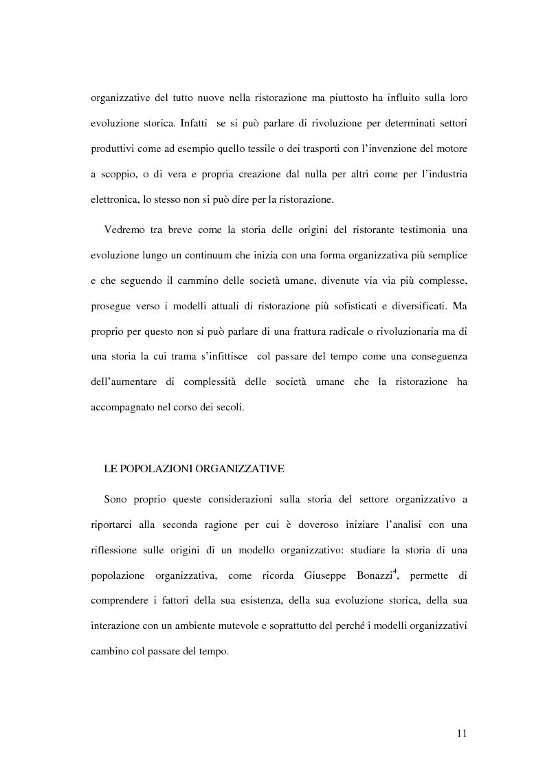 Anteprima della tesi: Il ristorante come sistema organizzativo, Pagina 3
