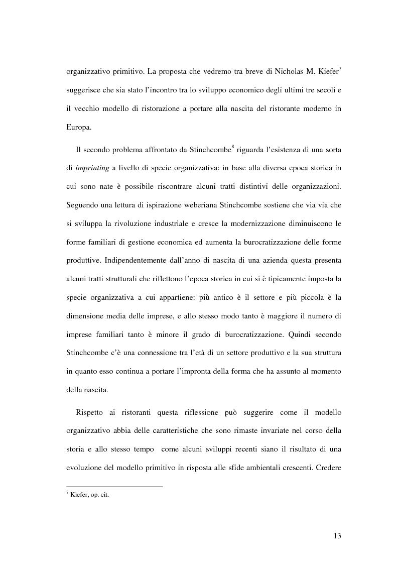 Anteprima della tesi: Il ristorante come sistema organizzativo, Pagina 5