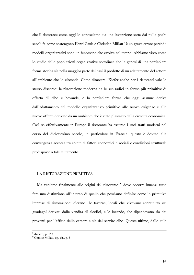 Anteprima della tesi: Il ristorante come sistema organizzativo, Pagina 6