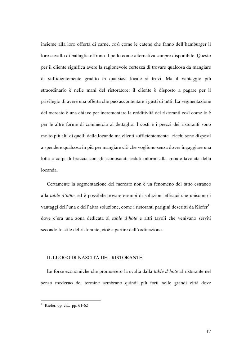 Anteprima della tesi: Il ristorante come sistema organizzativo, Pagina 9