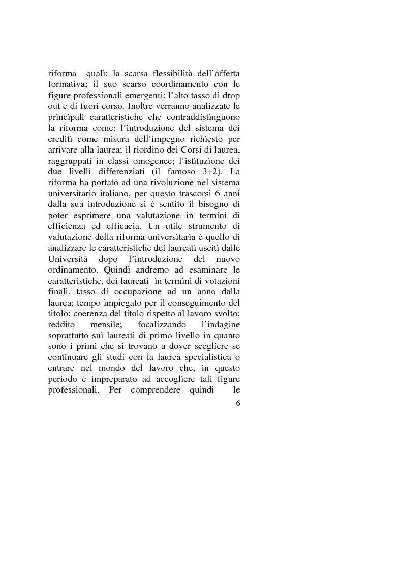Anteprima della tesi: Capitale umano: nuove opportunità della riforma universitaria, Pagina 2
