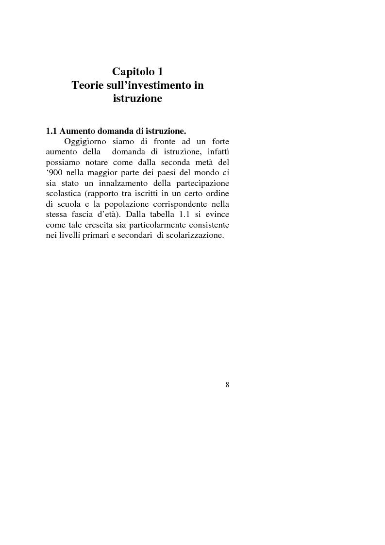Anteprima della tesi: Capitale umano: nuove opportunità della riforma universitaria, Pagina 4