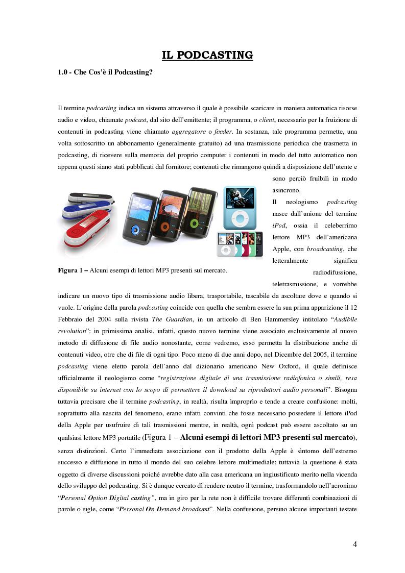 Anteprima della tesi: Nuovi media per la comunicazione: un'analisi del podcasting, Pagina 3