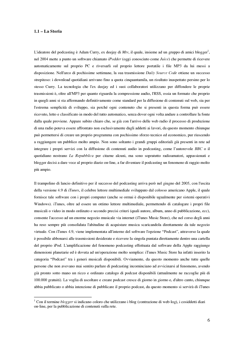 Anteprima della tesi: Nuovi media per la comunicazione: un'analisi del podcasting, Pagina 5