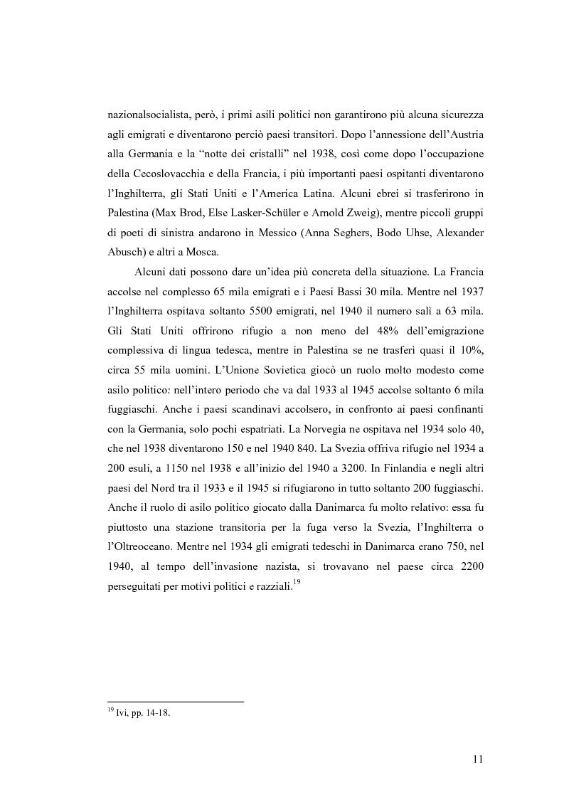 Anteprima della tesi: ''Alle grossen Gedichte haben den Wert von Dokumenten''. Le Svendborger Gedichte di Bertolt Brecht., Pagina 11