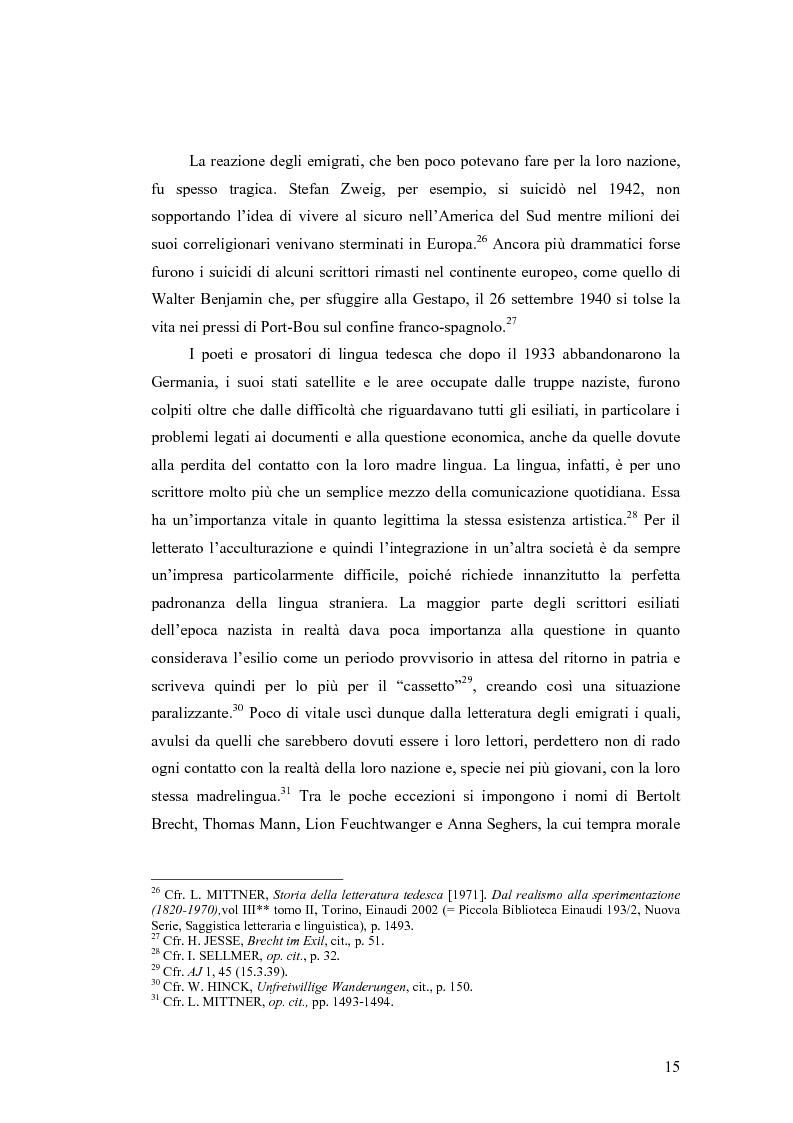 Anteprima della tesi: ''Alle grossen Gedichte haben den Wert von Dokumenten''. Le Svendborger Gedichte di Bertolt Brecht., Pagina 15