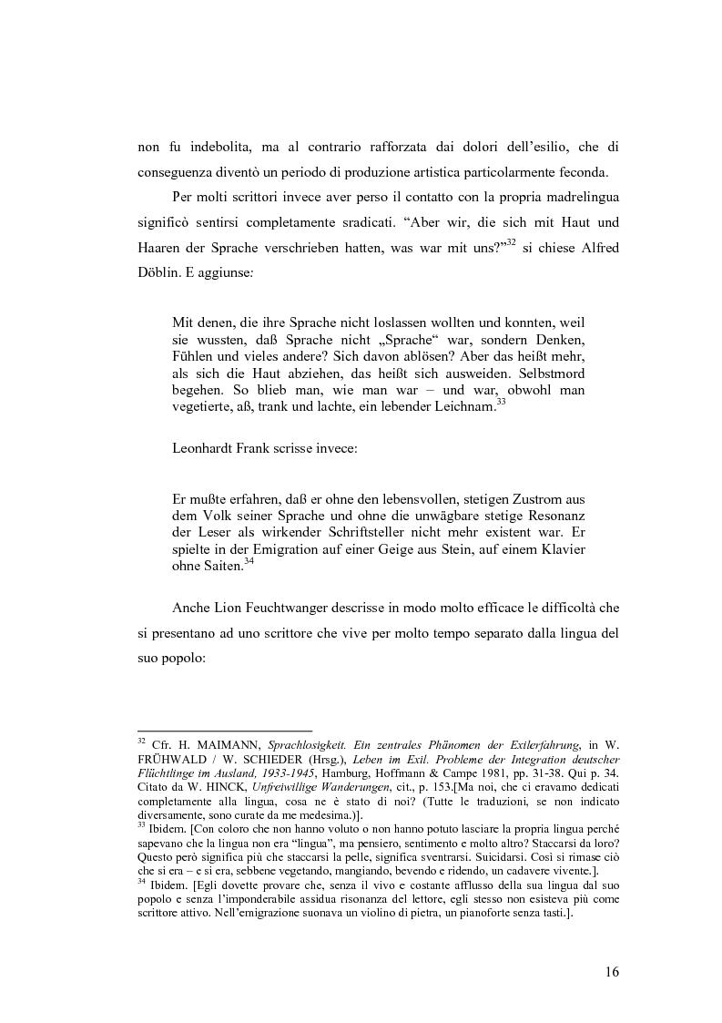 Anteprima della tesi: ''Alle grossen Gedichte haben den Wert von Dokumenten''. Le Svendborger Gedichte di Bertolt Brecht., Pagina 16