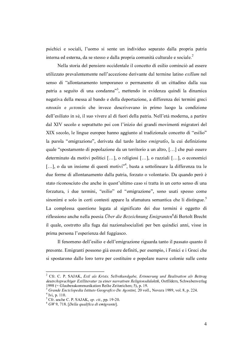 Anteprima della tesi: ''Alle grossen Gedichte haben den Wert von Dokumenten''. Le Svendborger Gedichte di Bertolt Brecht., Pagina 4