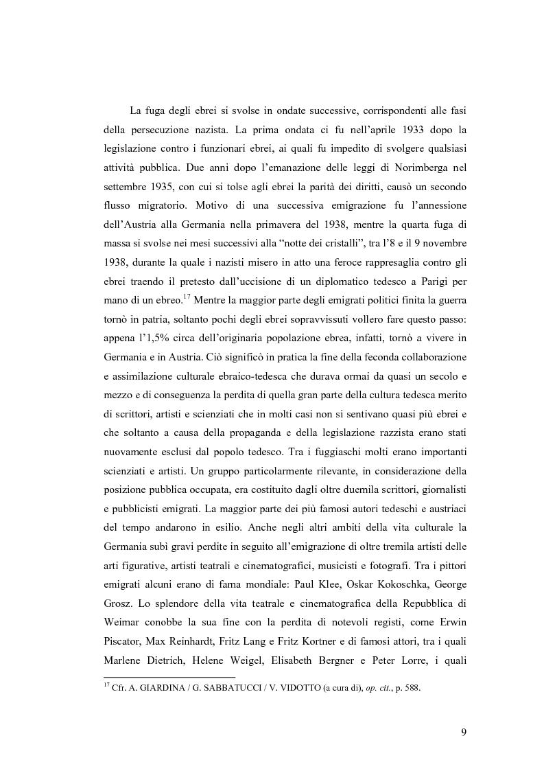 Anteprima della tesi: ''Alle grossen Gedichte haben den Wert von Dokumenten''. Le Svendborger Gedichte di Bertolt Brecht., Pagina 9