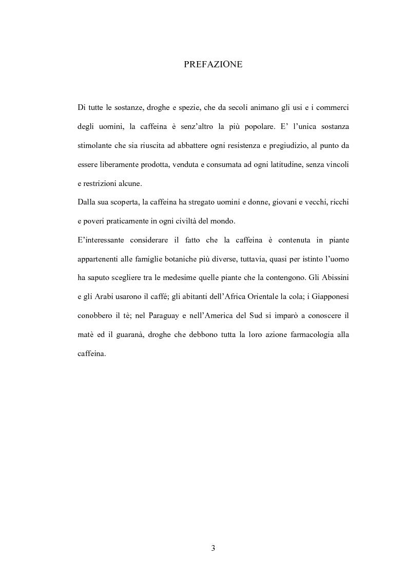 Anteprima della tesi: La caffeina: il doping illusorio? Effetti ergogenici della caffeina nelle performance degli sport olimpici, Pagina 1