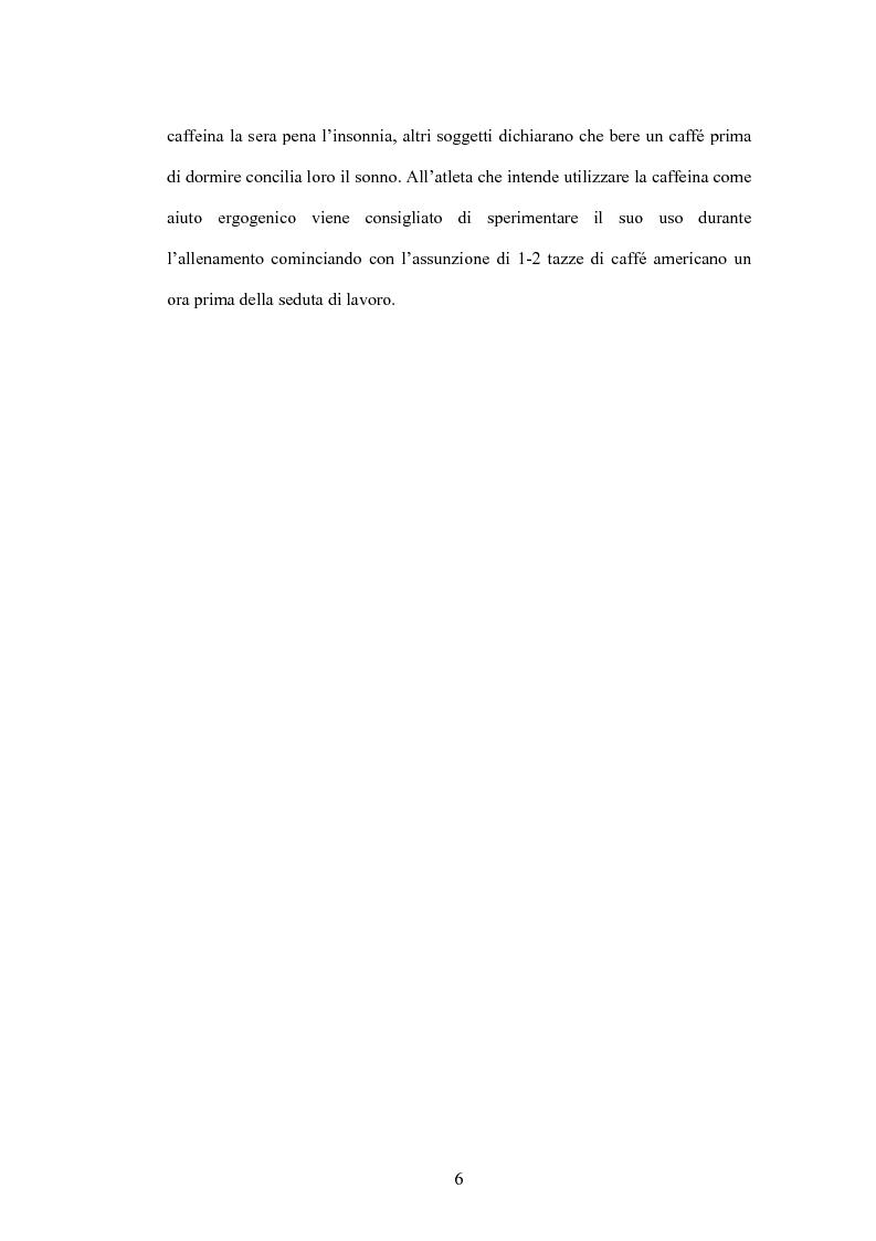 Anteprima della tesi: La caffeina: il doping illusorio? Effetti ergogenici della caffeina nelle performance degli sport olimpici, Pagina 4