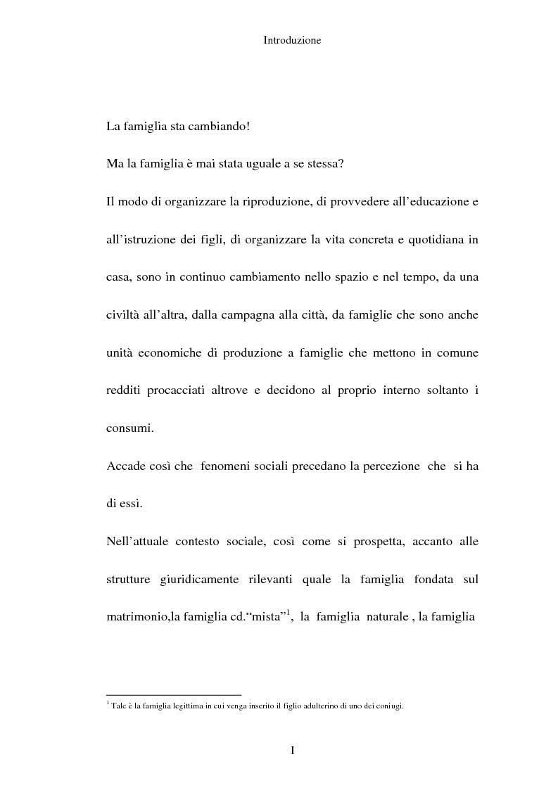 Anteprima della tesi: L'adozione per gli omosessuali tra direttiva europea e orientamento interno: esperienze a confronto, Pagina 1