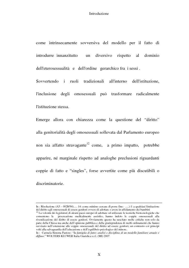 Anteprima della tesi: L'adozione per gli omosessuali tra direttiva europea e orientamento interno: esperienze a confronto, Pagina 10