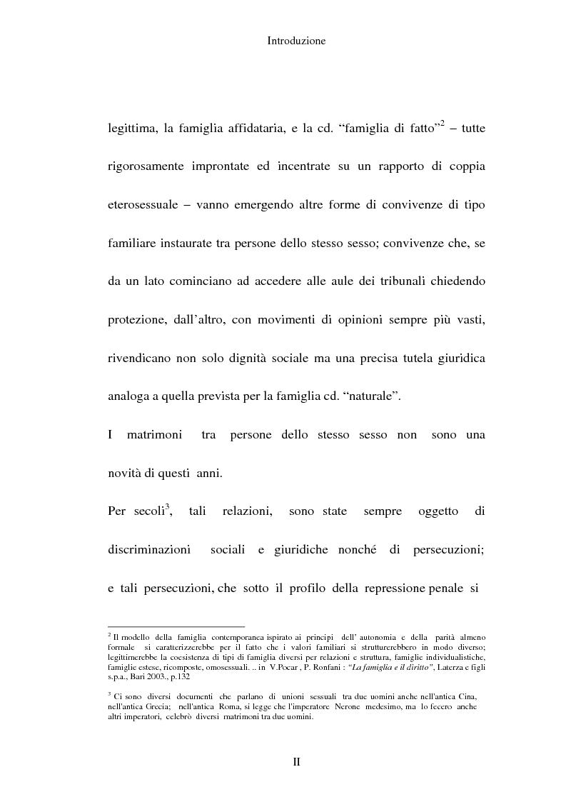 Anteprima della tesi: L'adozione per gli omosessuali tra direttiva europea e orientamento interno: esperienze a confronto, Pagina 2