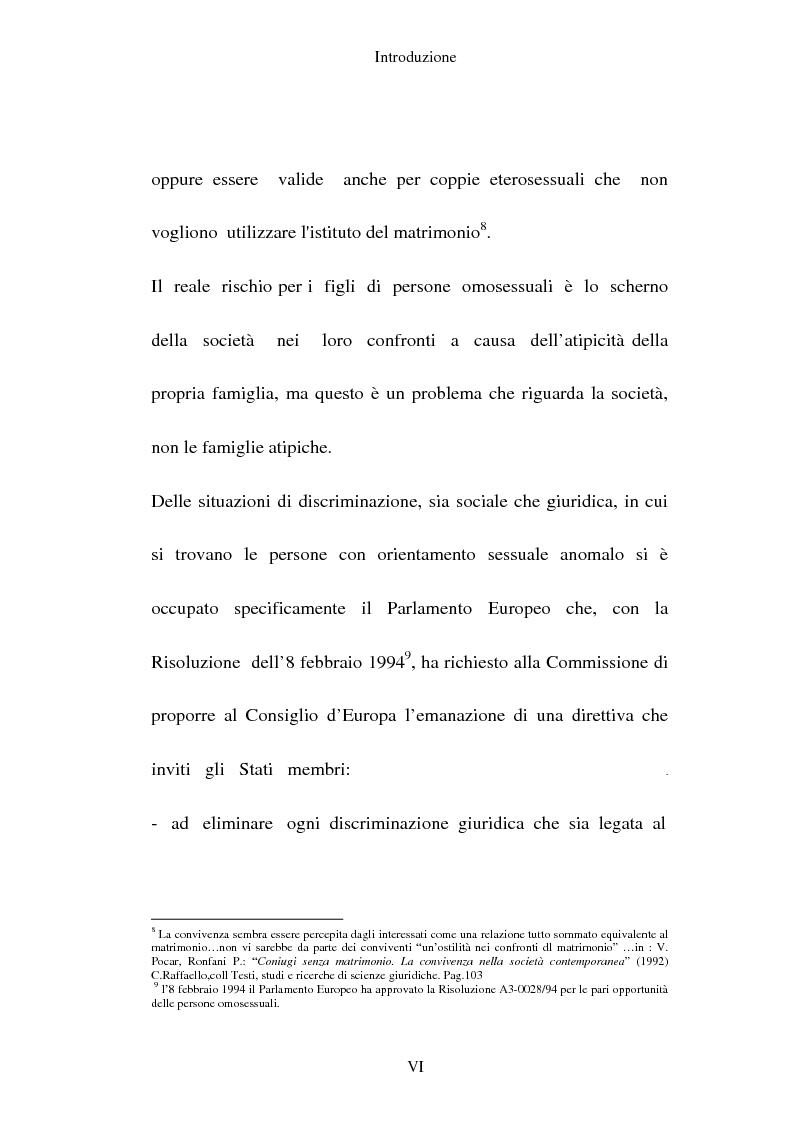 Anteprima della tesi: L'adozione per gli omosessuali tra direttiva europea e orientamento interno: esperienze a confronto, Pagina 6